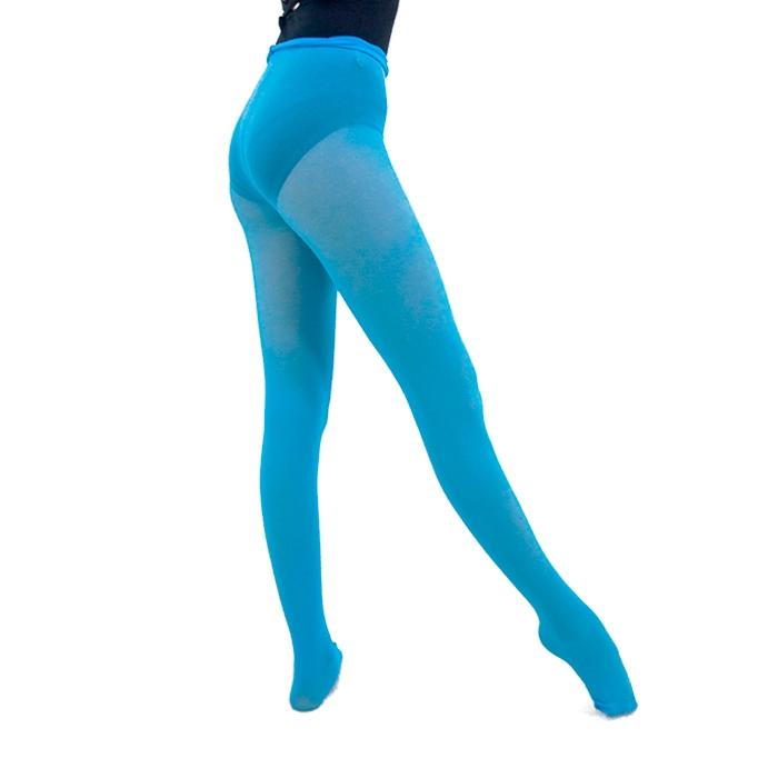 Meia Calça em Helanca Adulto Azul Turquesa - Ballare-0
