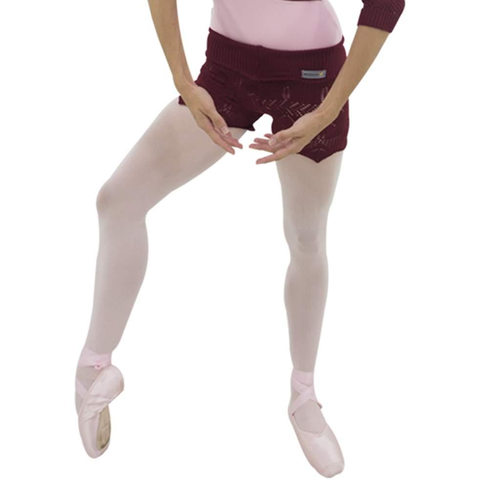 Shorts com Dobra Entarce Bordô - Ballare-0
