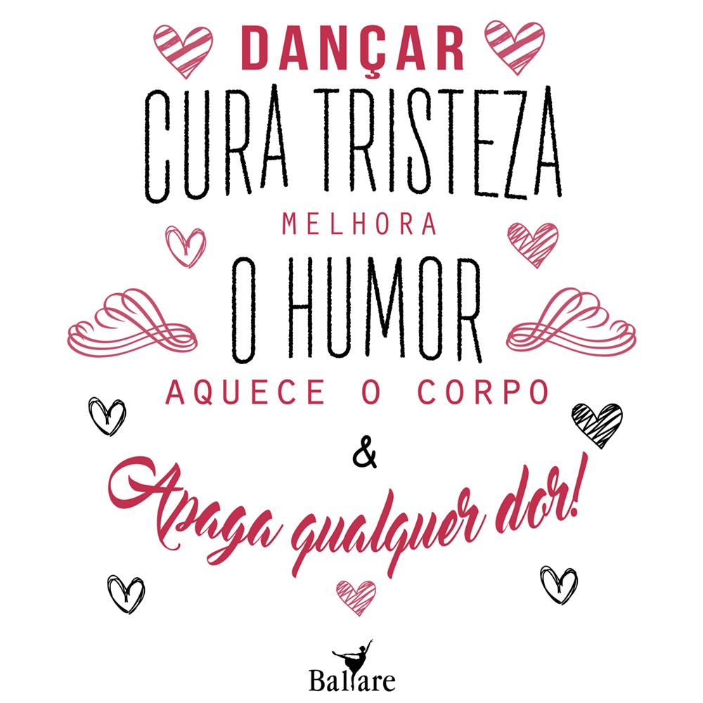 Camiseta Printed Frase De Dança