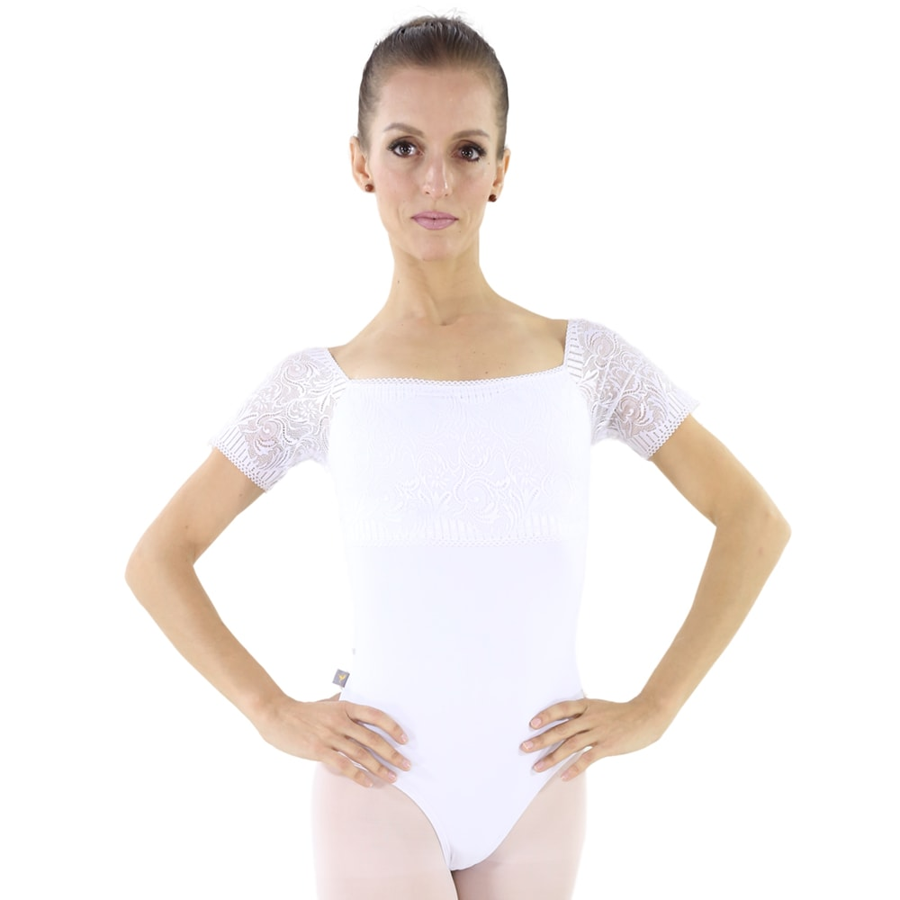 Collant Suplex com Renda Branco - Ballare-2128