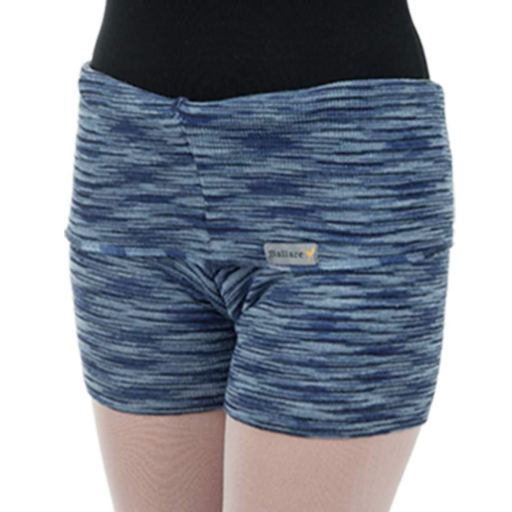 Shorts Listrado com Dobra Azul Marinho - Ballare-0