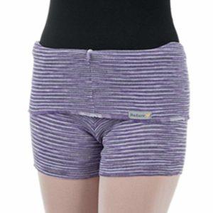 Shorts Listrado com Dobra Lilás - Ballare-0