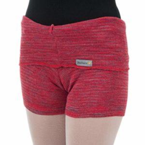 Shorts Listrado com Dobra Vermelho - Ballare-0