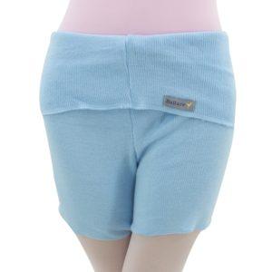 Shorts com Dobra Azul Bebê - Ballare-0