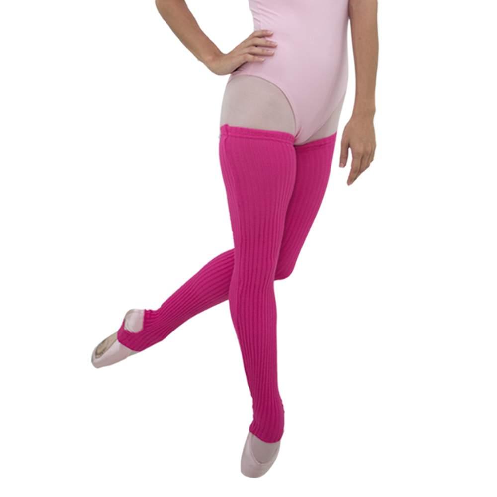 Perneira Malha Canelada Rosa Pink - Ballare-0