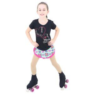 Camiseta Visco Lycra Patinação Infantil - Ballare-2284