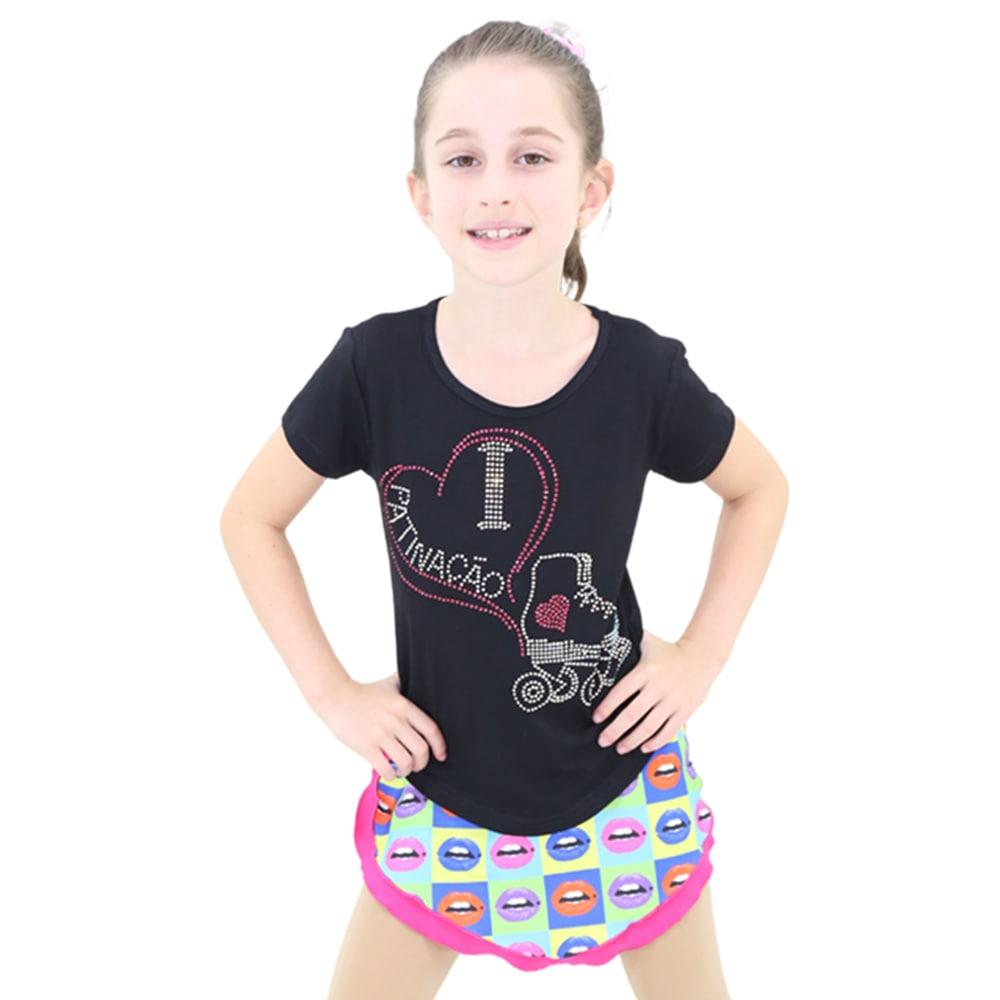 Camiseta Visco Lycra Patinação Infantil - Ballare-0
