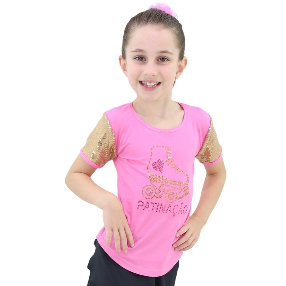 Camiseta Visco Lycra Patinação Roxa Infantil - Ballare-0
