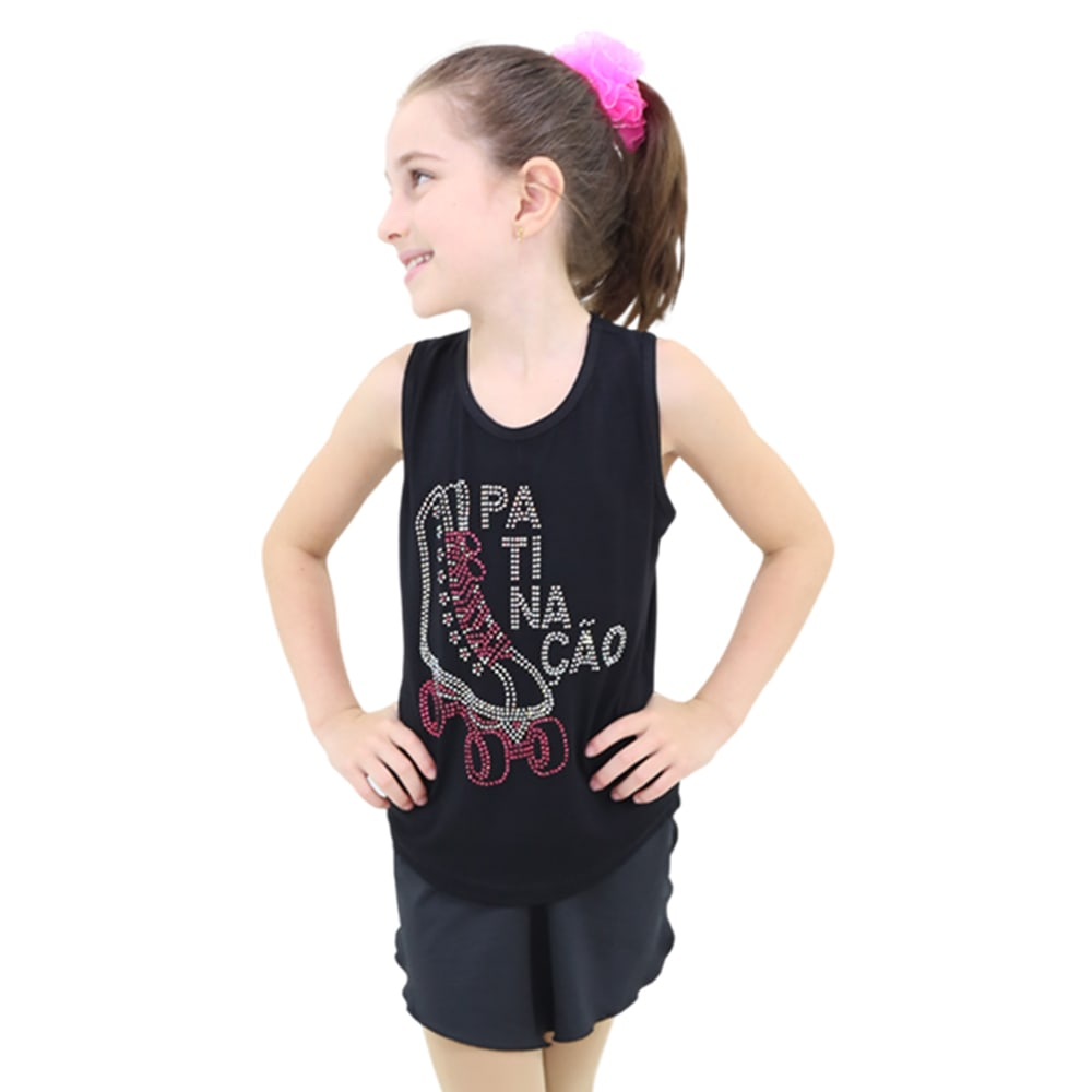 Camiseta Regata Visco Lycra Infantil - Ballare-0