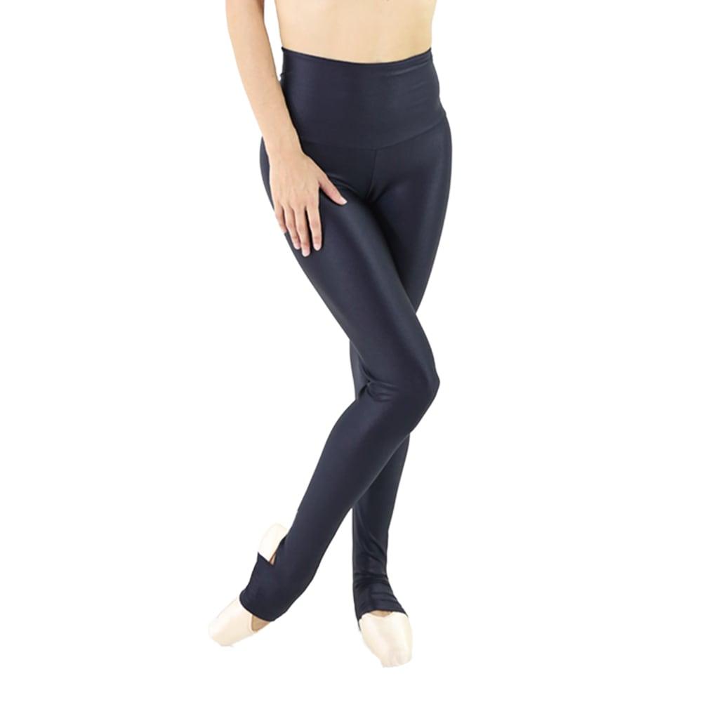 Calça em Tecido Brilhoso e Cós Alto Preta - Ballare-2351