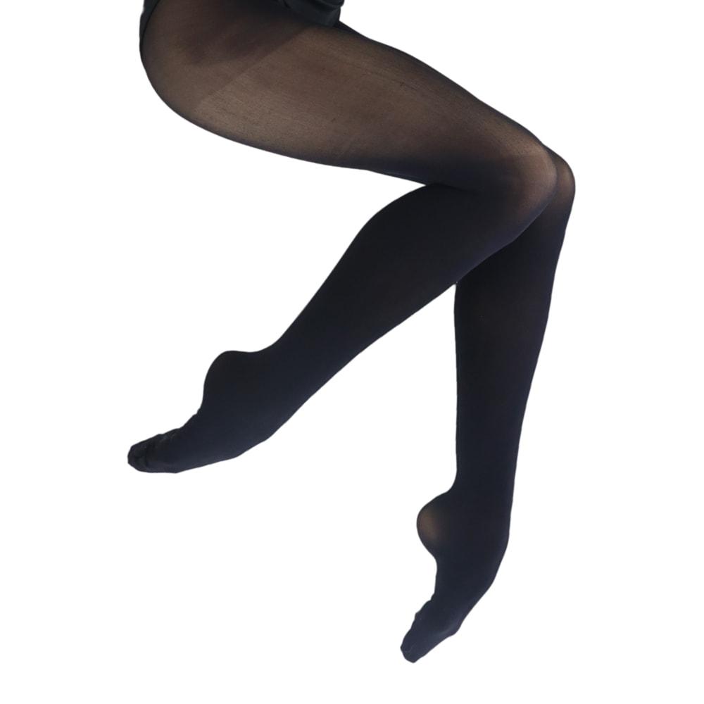 Meia Calça em Suplex Adulto com Pé Preta - Ballare-0