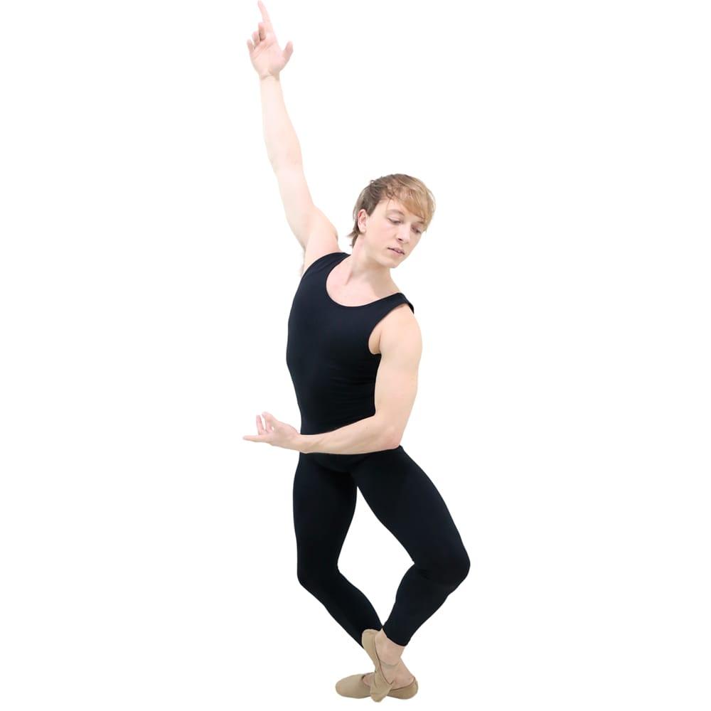 Macacão Regata Masculino Preto Adulto - Ballare-0