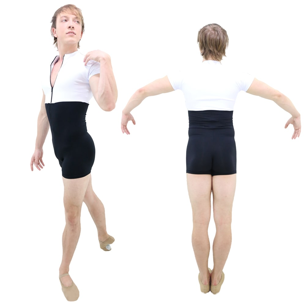 Macaquinho com Ziper Masculino Branco - Ballare-0