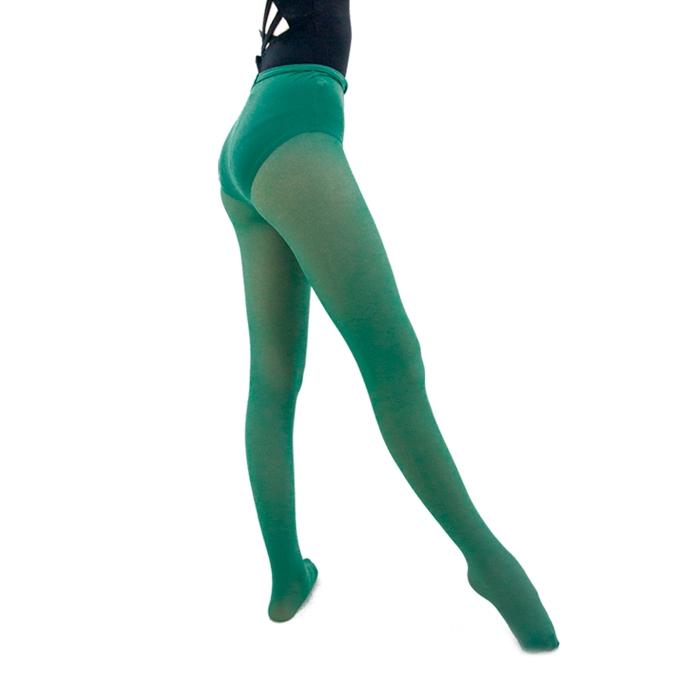 Meia Calça em Helanca Adulto Verde - Ballare-0