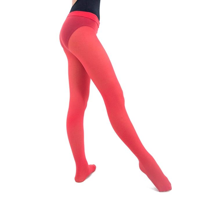 Meia Calça em Helanca Adulto Vermelha - Ballare-0