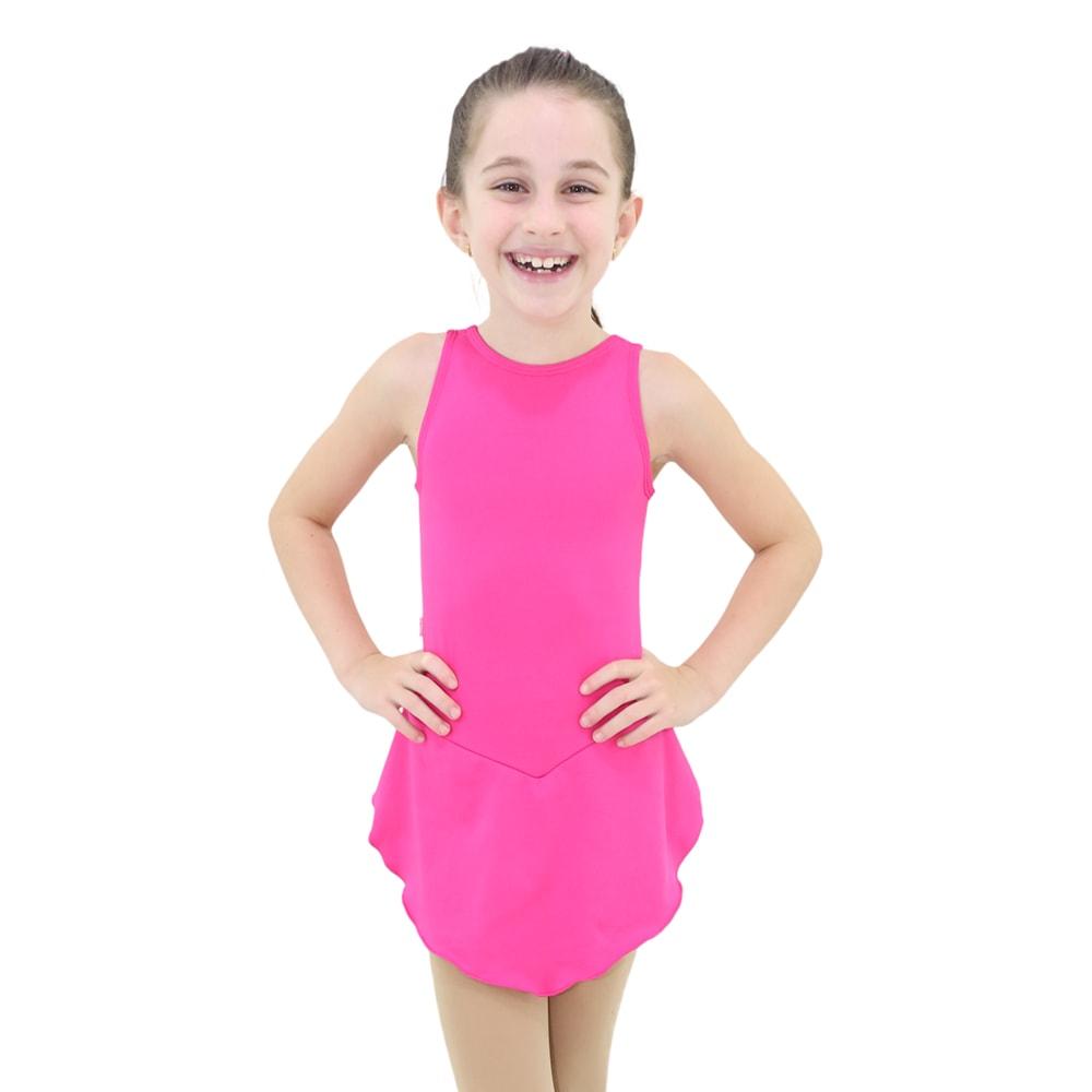 Collant Regata com Saia Infantil Rosa Pink - Ballare-2292
