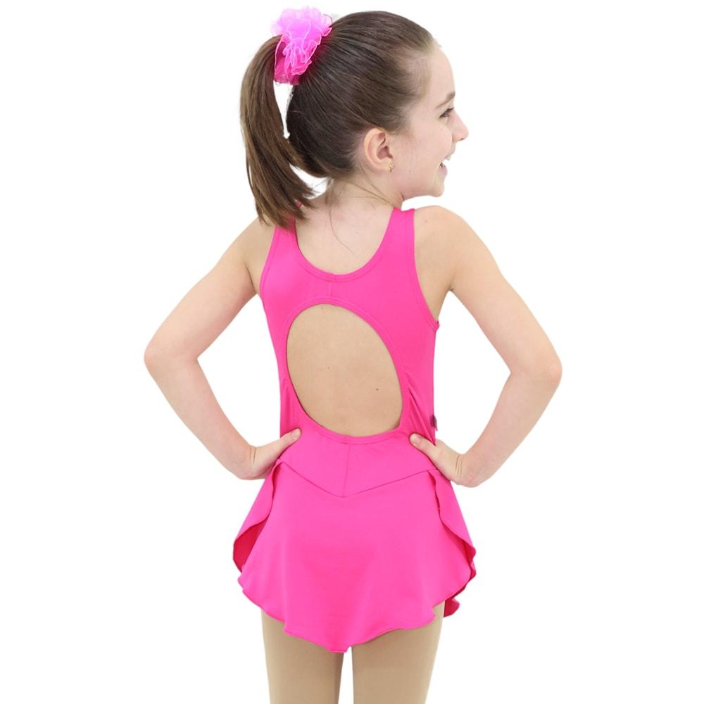 Collant Regata com Saia Infantil Rosa Pink - Ballare-2291