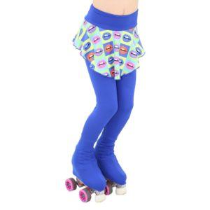 Calça Lisa com Saia Estampada Cor 117 Infantil - Ballare-0