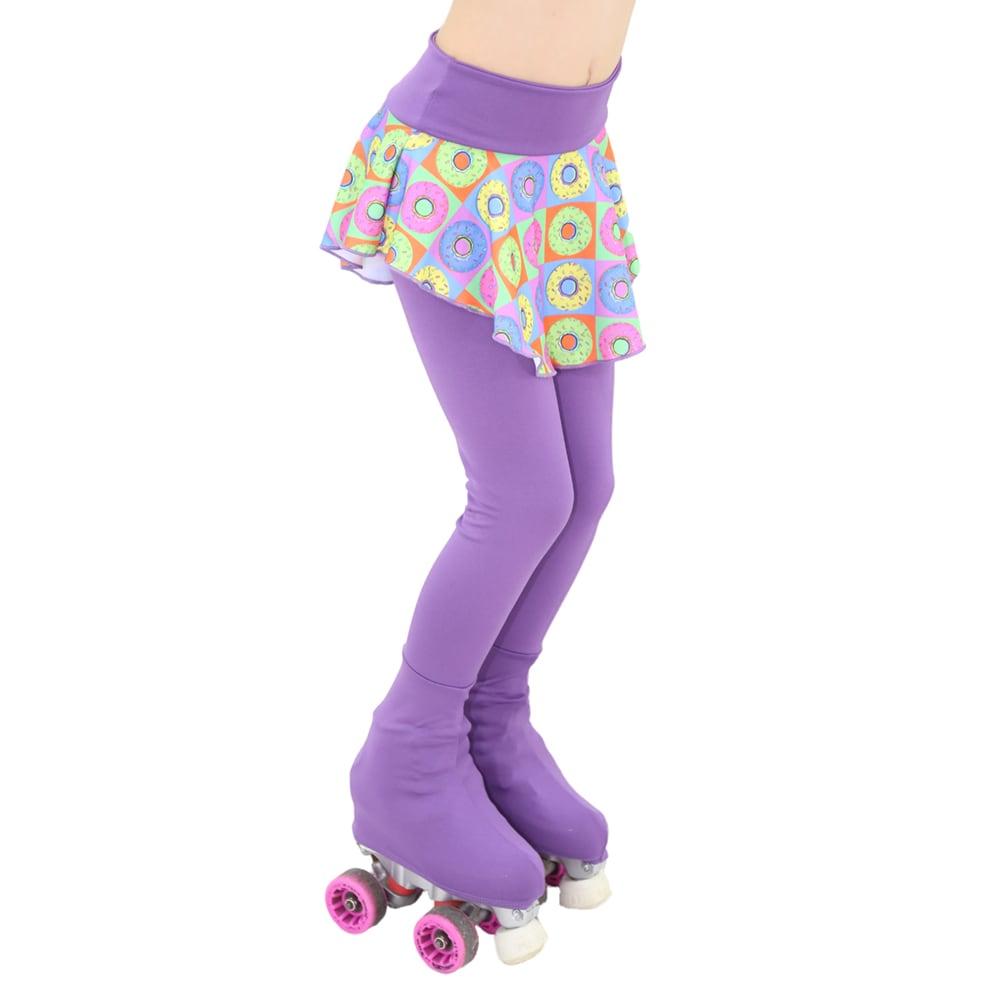 Calça Lisa com Saia Estampada Cor 112 Infantil - Ballare-0