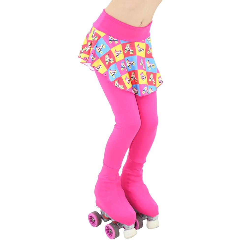 Calça Lisa com Saia Estampada Cor 120 Infantil - Ballare-0