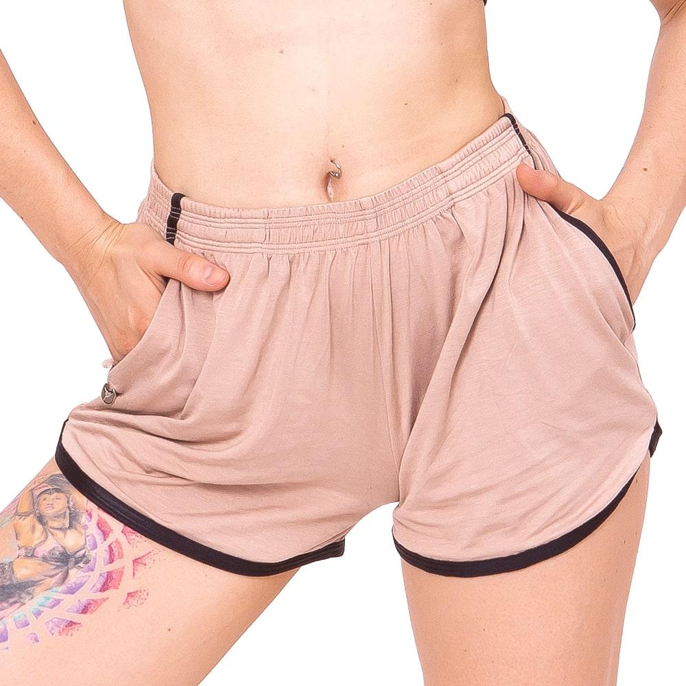 Shorts Tecido Adulto Bege - Ballare-2640