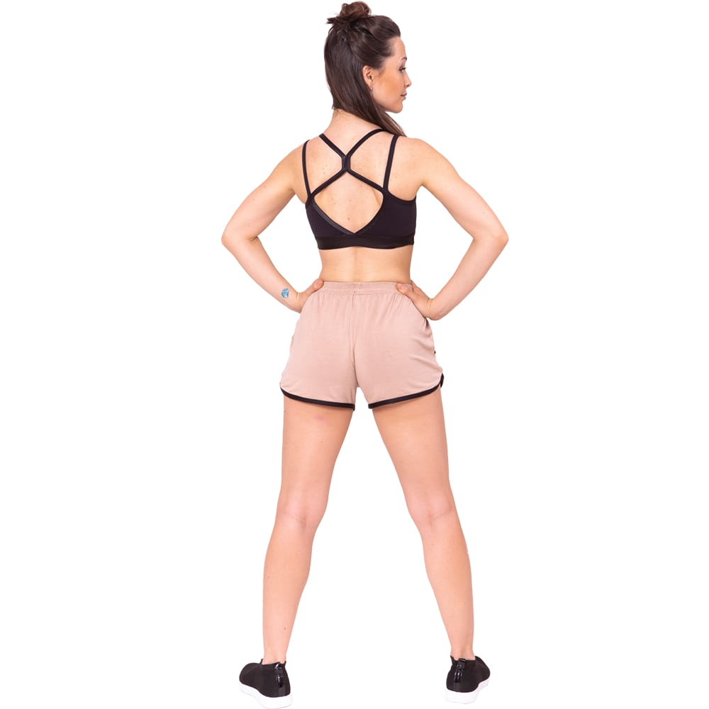 Shorts Tecido Adulto Bege - Ballare-2638