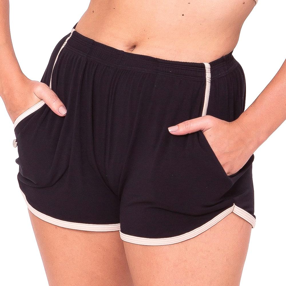 Shorts Tecido Adulto Preto - Ballare-2634