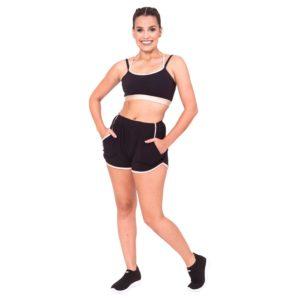 Shorts Tecido Adulto Preto - Ballare-2637