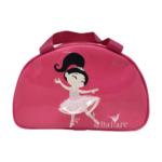 Bolsa Meia Lua Bordada em Verniz Rosa Pink - Ballare-0