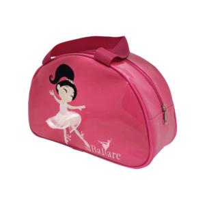 Bolsa Meia Lua Bordada em Verniz Rosa Pink - Ballare-2780
