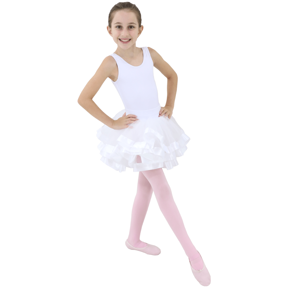 Tutu Fita Larga Branco Infantil - Ballare-2893