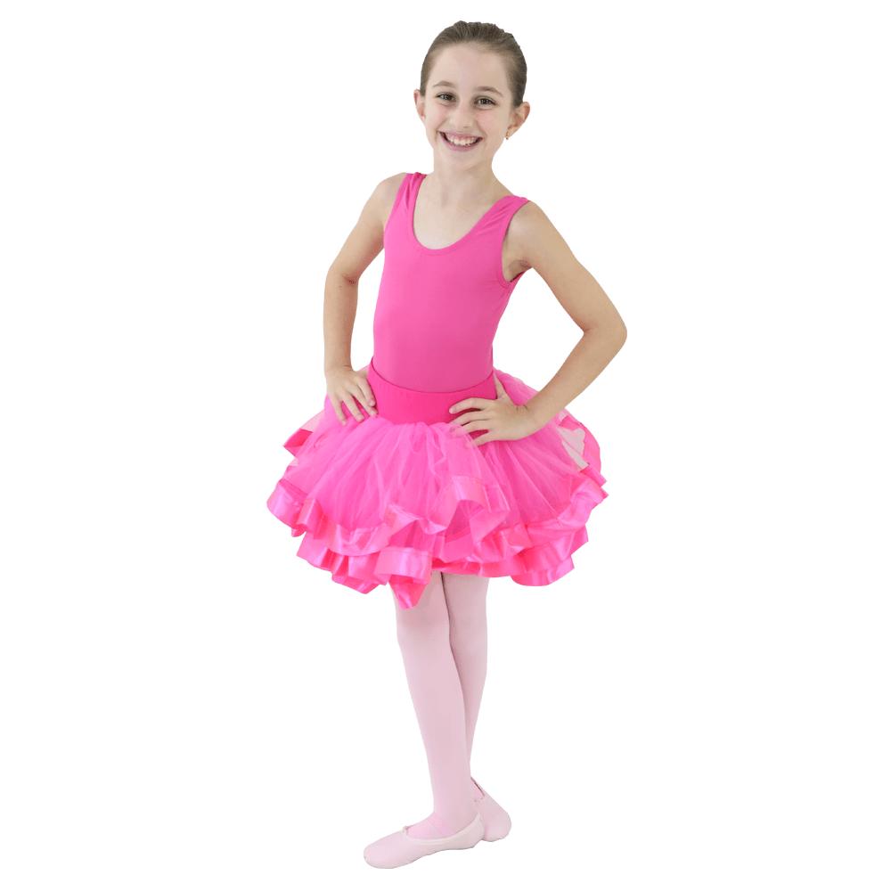 Tutu Fita Larga Pink Infantil - Ballare-2887