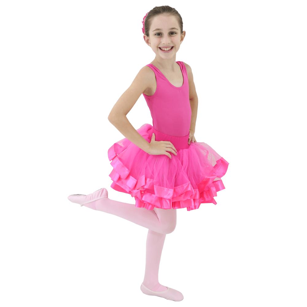Tutu Fita Larga Pink Infantil - Ballare-0