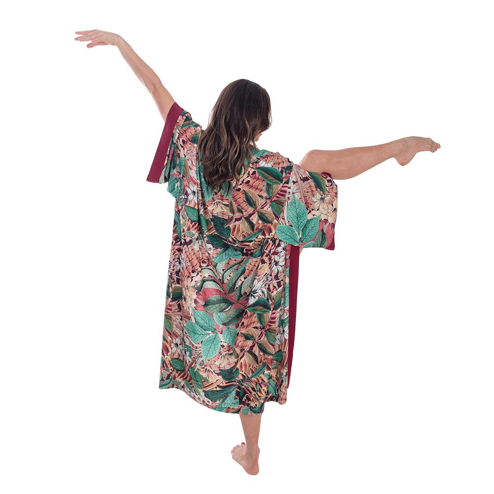 Kimono Zoe Estampa Bordô