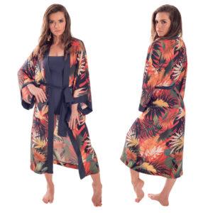 Kimono Zoe Estampa Laranja Ballare